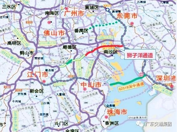 广东珠江口将再添过江通道:狮子洋通道开始筹建_图1-4