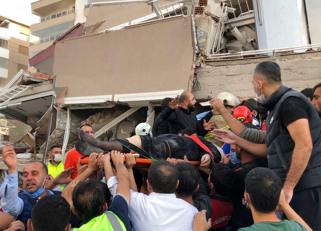 爱琴海发生强震 土耳其、希腊8人死亡逾百人受伤_图1-1