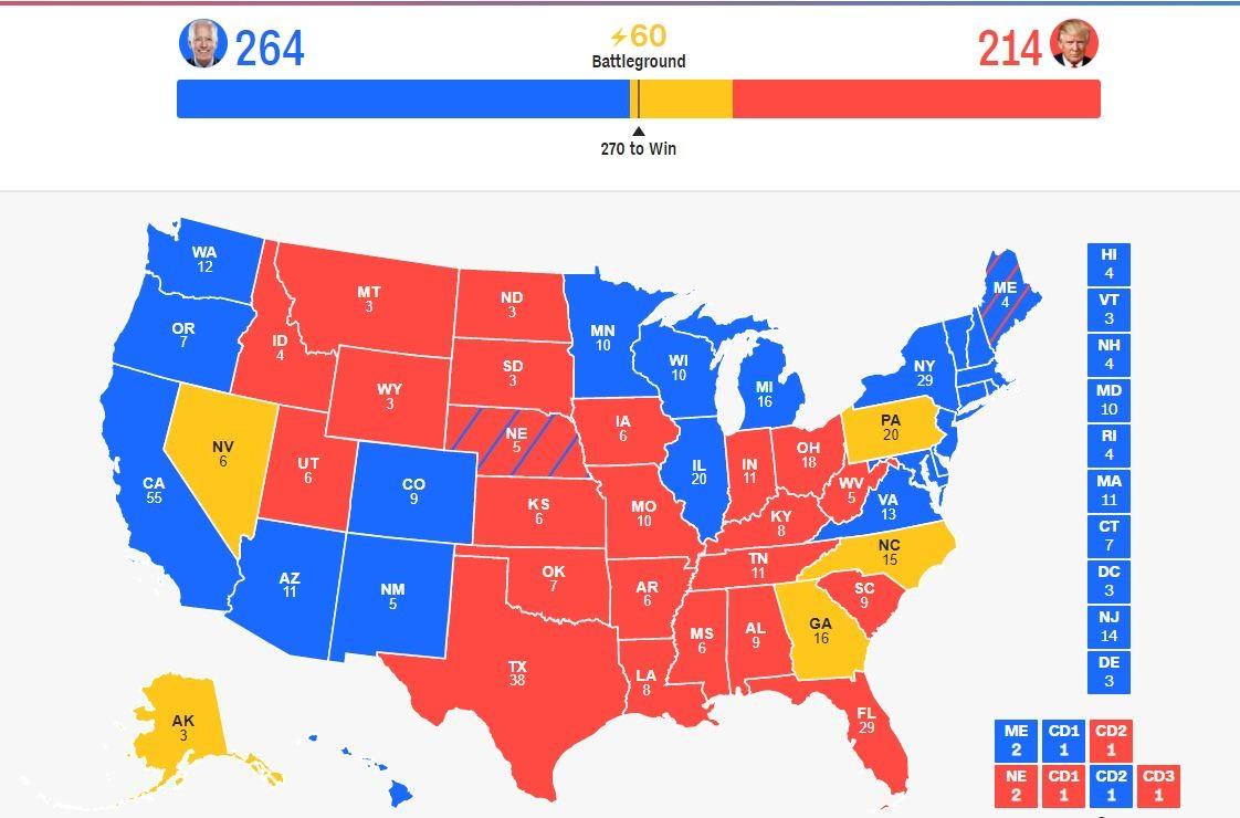 【实时更新】宾州仍有17.5万选票待点 费城连夜计票_图1-2