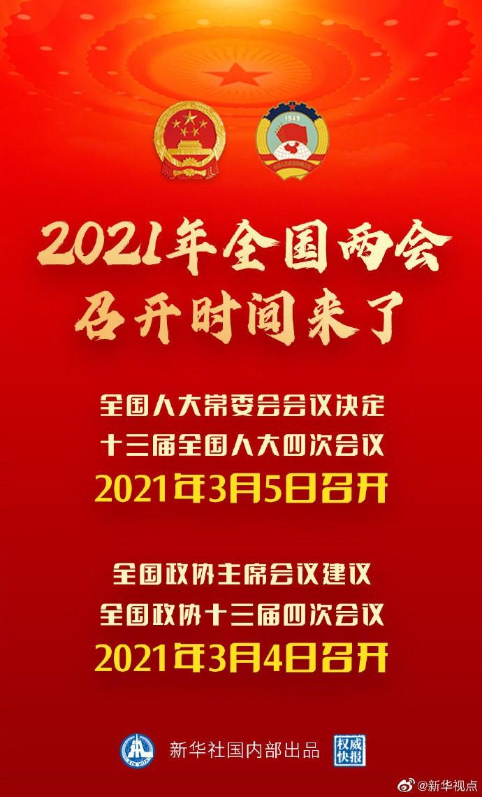 中国2021年全国两会召开时间来了_图1-1