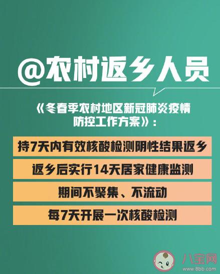 春节外地返乡人员划定范围是什么 持核酸检测阴性证明返乡从什么时候开始