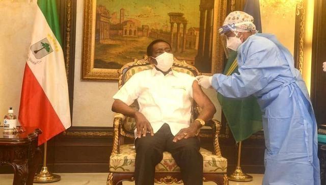 78岁的赤道几内亚总统奥比昂接种中国新冠疫苗_图1-1