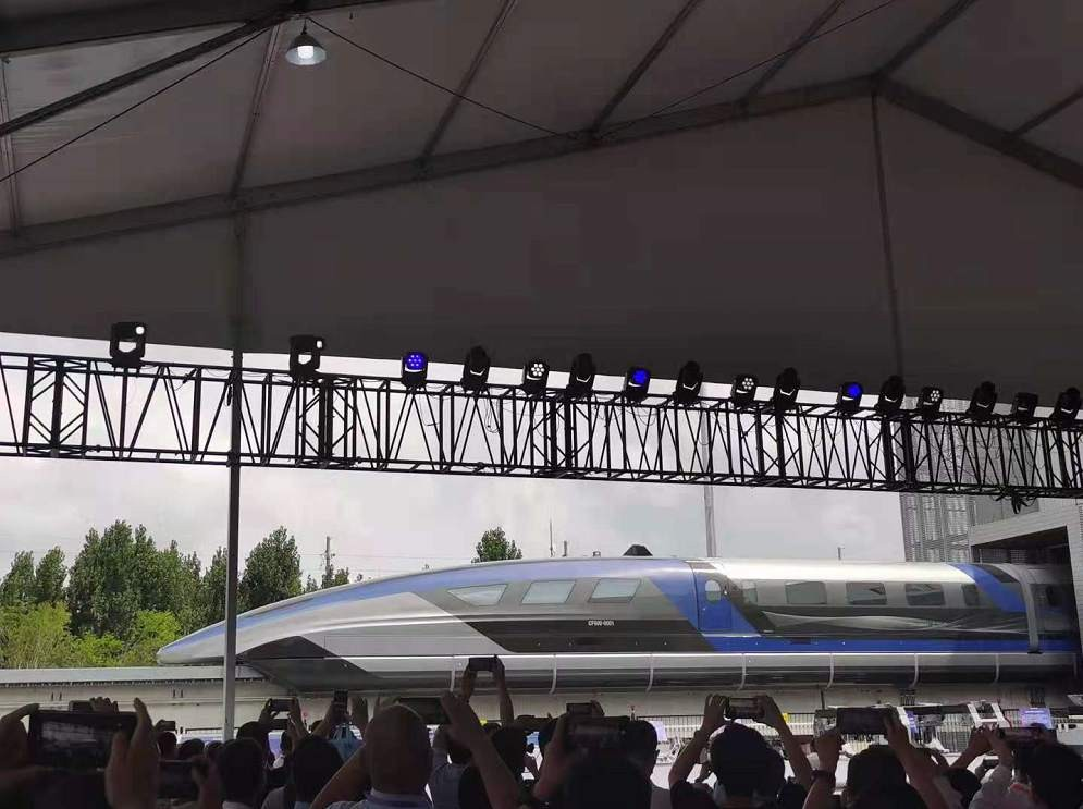 中国速度!时速600公里高速磁浮正式下线_图1-5