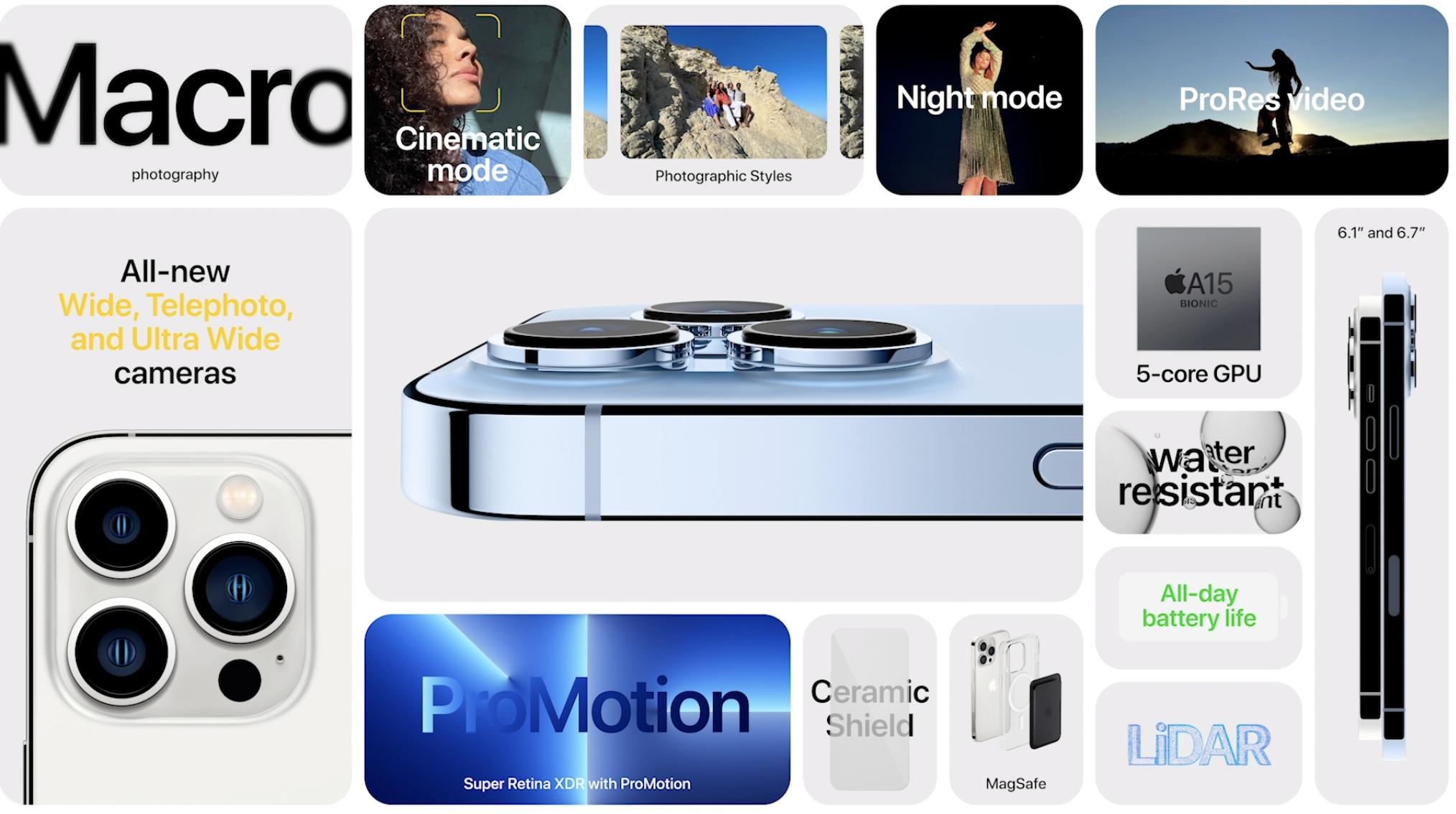 苹果iPhone13系列699元起售 摄像头系统全面升级_图1-3