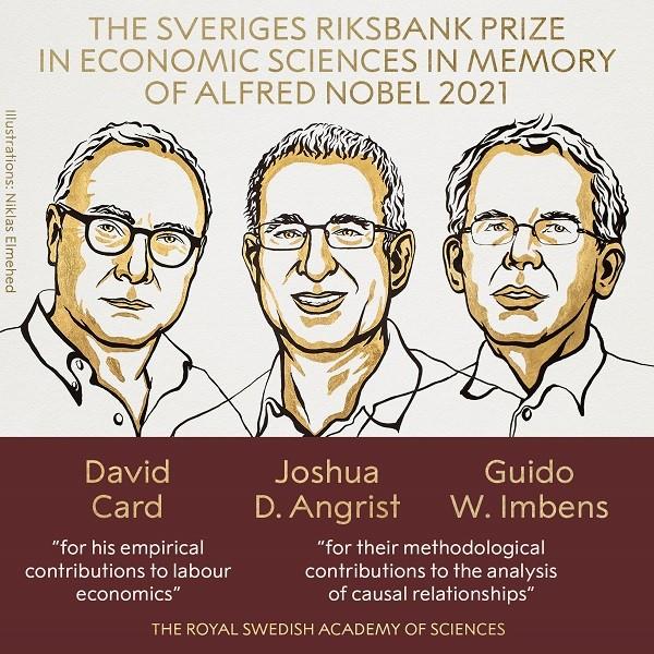 2021年诺贝尔经济学奖揭晓!3名美国经济学家获奖_图1-3