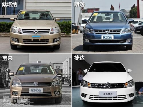 大众各车型