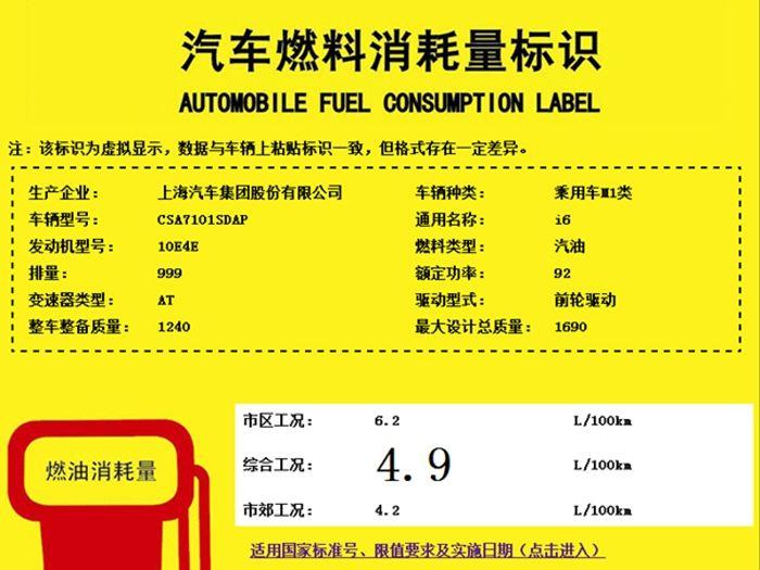 荣威i6将于2017年4月上市 搭载两款发动机
